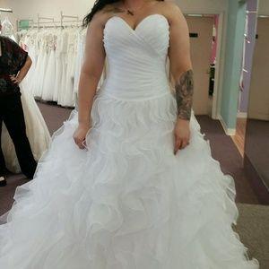 Dresses & Skirts - Blu by Morilee Ruffle ballgown wedding dress, 8-12